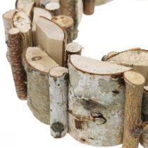 Dekorativ krans af birketræskransborddekoration Ø30cm H7cm