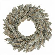 Dekorative kransekegler Adventskrans dørkrans hvid, glitter Ø35cm
