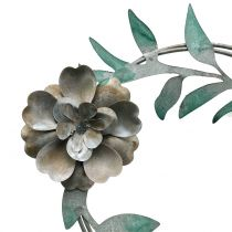 Havenål blomsterkrans metal H63cm