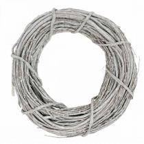 Deco krans hvidkalket Ø35cm Shabby Chic dørkrans borddekoration