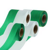 Kransebånd moiré grøn-hvid vers. Bredde 25m