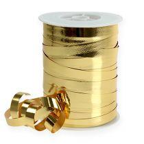 Bånd skinnende 10mm 250m guld