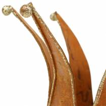 Crown rust Guld Ø6,5 / 8,5 cm 2stk i et sæt