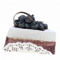 Pie stykke blåbær kunstigt 10 cm