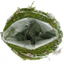 Grav dekoration kugle vinstokke mosgrøn, hvidvasket Ø20cm