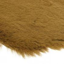 Pels tæppe deco brun Kunstigt pels tæppe 55 × 38cm