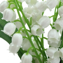 Kunstig lilje af dalen hvid 25cm 3stk
