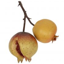 Kunstig frugt granatæble med frø Ø6cm - Ø7cm L18cm