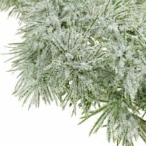 Lark krans med glitter og sne 160 cm