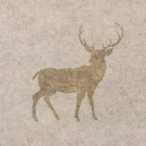 Bordløber filt hjort natur 30 cm x 120 cm