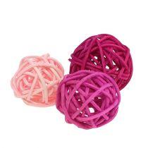 Lataball sortiment 3 cm pink / syrin / 72 stykker