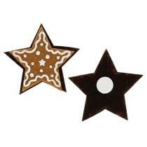 Honningkager stjerner 4,5 cm til at klæbe 12 stk