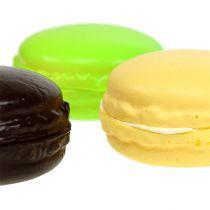 Macaron dekoration marengs forskellige farver 5 cm 8p