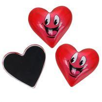 Magnetisk hjerte Smeili rød 4cm 6stk
