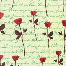 Manchetpapir 25cm 100m Creme Rose