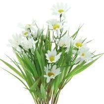Marguerite buket med dekorativt græs 37cm