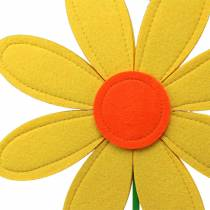 Filt blomstergul, orange, grøn Ø25,5cm x H68cm vinduesbandage