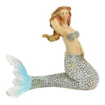Dekorativ figur havfrue blå 6cm - 9,5 cm 3stk