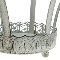 Metalkrone til dekoration Ø20,5cm H26cm