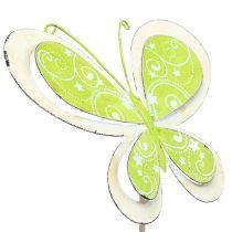 Metalprop sommerfuglgrøn, lyserød 52 cm 2stk
