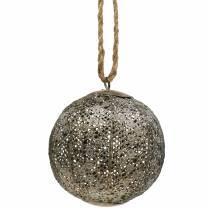 Metalkugle antik til at hænge Ø10,5cm