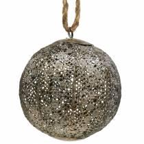 Metalkugle antik til at hænge Ø13.5cm