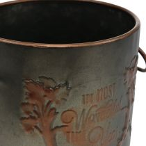 Metalpotte med låg Ø17,5cm H20,5cm