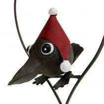 Fugl i hjertet Deco bøjle metalgrå 48cm