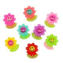 Mini blomster til at klæbe 2 cm 24stk