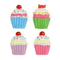 Mini cupcakes farvet 2,5 cm 60p