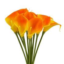 Mini Calla kunstig gul 28 cm 12stk