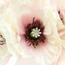 Valmue hvid, lyserød 29 cm 6stk