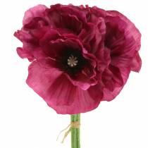 Valmue lilla 29 cm 6stk