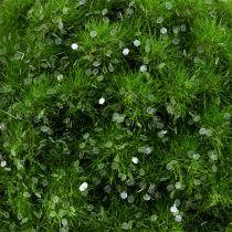 Mosekugle med glimmer Ø9cm grøn