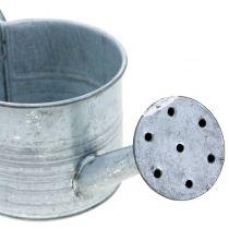 Planter vandkande galvaniseret grå, vasket hvid H10cm