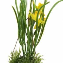 Påskelilje i æggeskallen til at hænge Kunstig gul 25cm