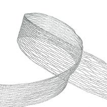 Mesh bånd sølvtrådforstærket 40mm 15m