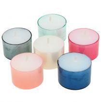 Colorlights fyrfadslys pastel sort 40 stk