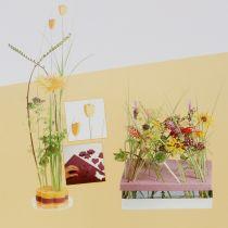 Blomsterskum designerpaneler plug-in størrelse gul 34,5 cm × 34,5 cm 3 stk