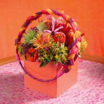 Floral skum mursten bord arrangement 11cm x 11cm x 8,5 cm 4stk