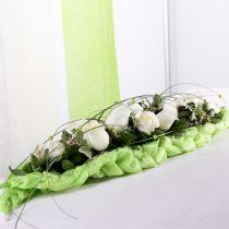 Blomsterskum mursten borddekoration grøn 22cm x 7cm x 5cm 10stk