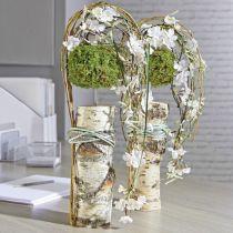 Blomster skum cylinder tør pasta grå H5cm Ø8cm 20stk