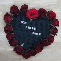 Hjertet plug-in skum sort 33 cm 2stk bryllupsdekoration