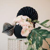 Blomsterskumkugle, sort Ø20cm