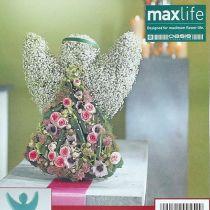 Blomsterskum engel med stand-up dimensioner 45cm x 34cm