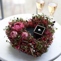 Blomsterskum sort 17 cm 2stk bryllupsdekoration