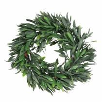 Olivenkrans kunstgrøn Ø28cm dekoration middelhavs