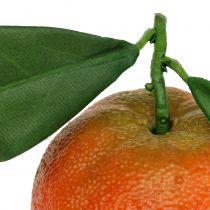 Orange med blad 7cm 4stk
