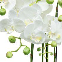 Kunstige orkideer i en gryde hvid kunstig plante 63cm