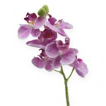 Orkidé med glitter, lyserød 35 cm